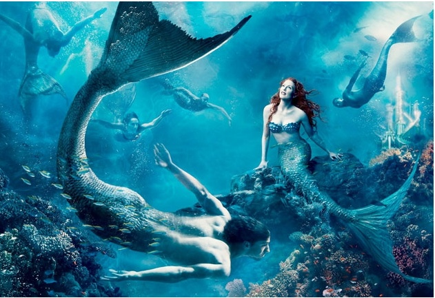 annie leibovitz: Little Mermaids, Michael Phelps, Dream, Annieleibovitz, Annie Leibovitz, The Little Mermaid, Disney, Photo, Julianne Moore