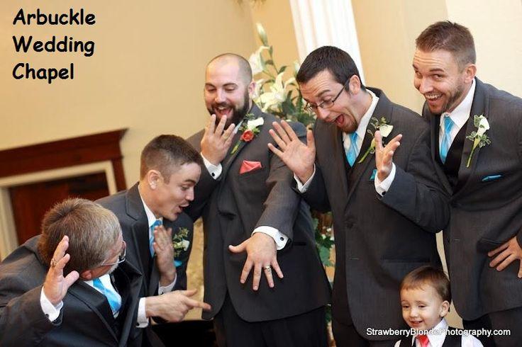 Wedding guys---oooohhh and aaahhh over THE ring.  Cute! #weddingrings #groomsmen #cuteweddingpictures