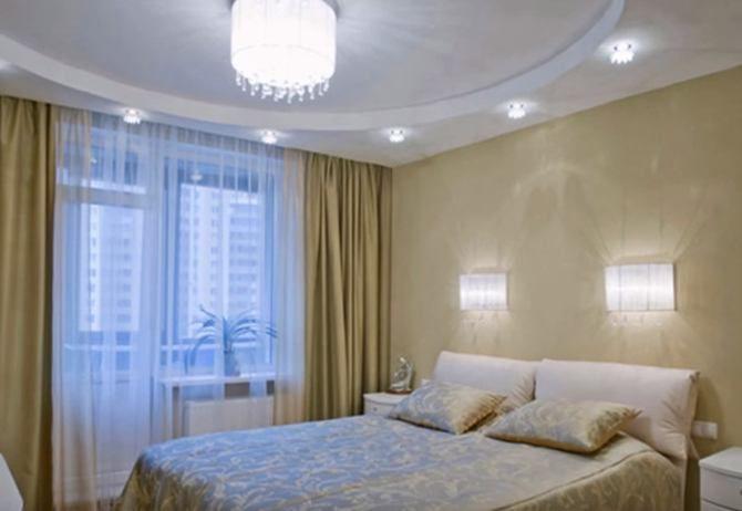 большая спальня дизайн