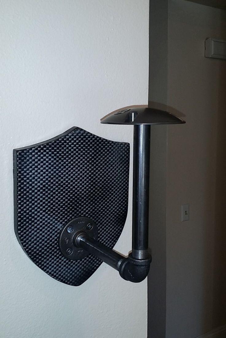 Helmet Rack by BogartsGarage on Etsy https://www.etsy.com/listing/263238551/helmet-rack