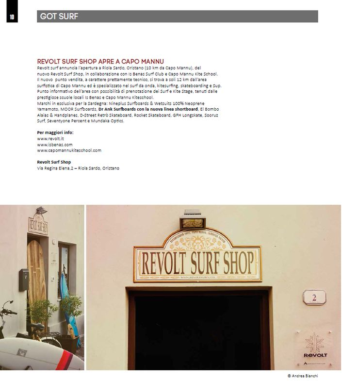 4SURF Magazine n°63 - REVOLT SURF SHOP - pag 10