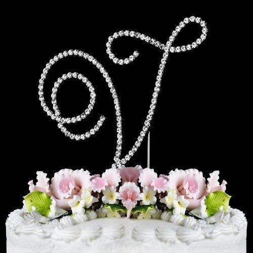 RENAISSANCE MONOGRAM WEDDING CAKE TOPPER LARGE LETTER V by Other