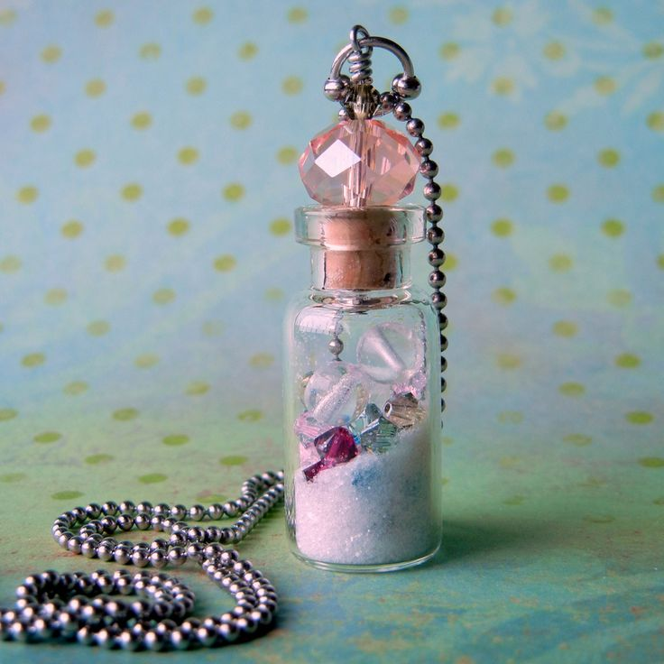 How to make a glass vial necklace easy jewelry making for Glass bottle project ideas
