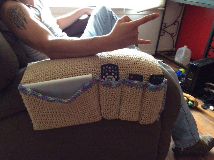 Crochet remote holder