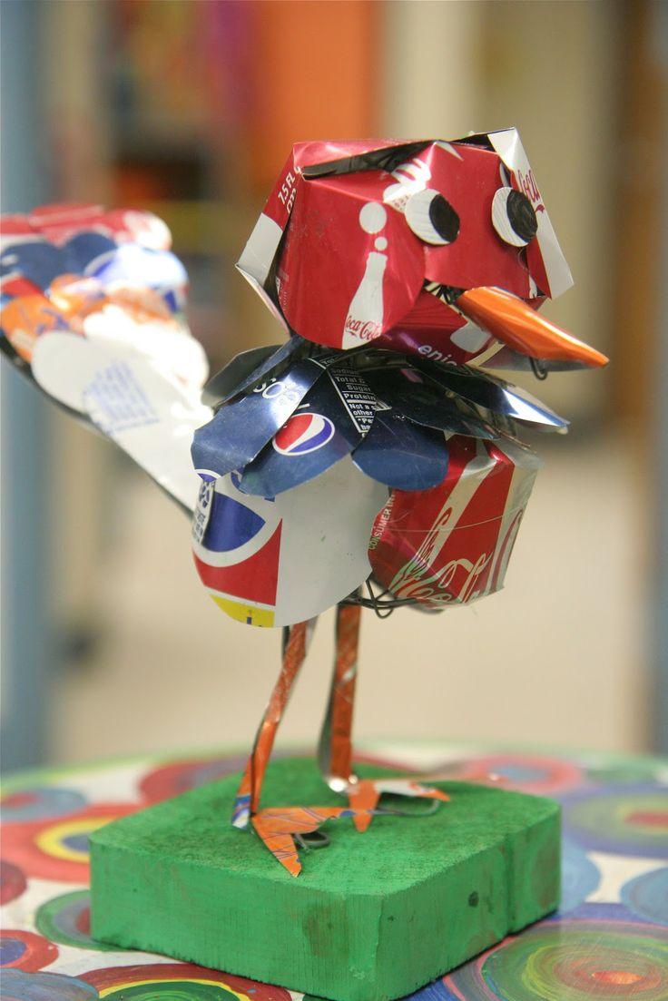 soda can birds