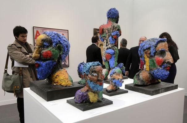 l'EXPRESS. Markus Lupertz during the international contemporary art fair Fiac at the Grand Palais in Paris