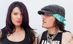 Georgina Baillie with Adam Ant