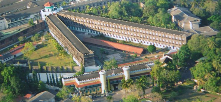 Built in between 1896 and 1906 by the British, the Cellular Jail was used to exile political prisoners during the struggle for India's independence. Today it is a national memorial and is open for tourists.