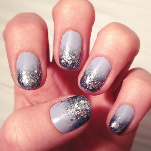 Boss Nails: Winter Glitter Nail Polish Tutorial #Cake