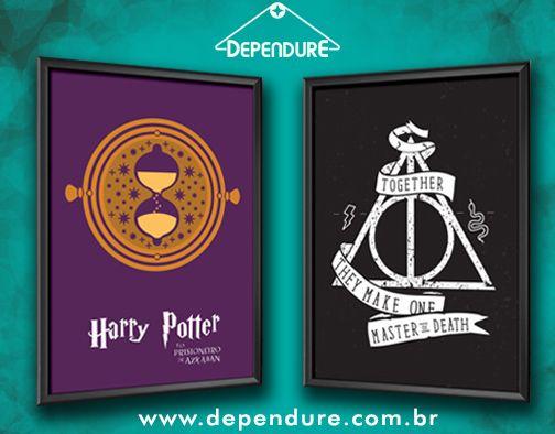 Novidades na Dependure! Posteres maravilhosos para a coleção de Harry Potter!  www.dependure.com.br