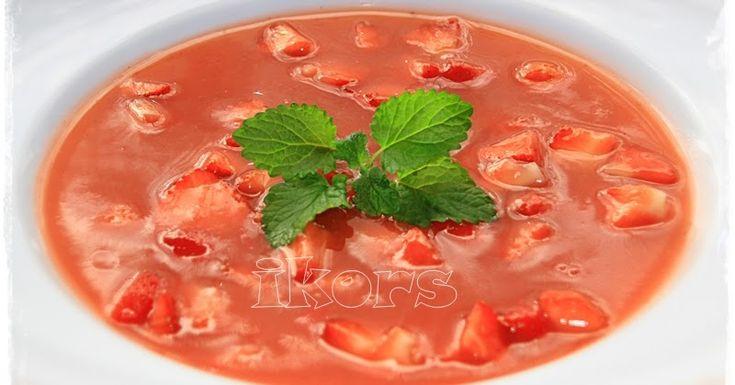 Fruchtkaltschale mit Erdbeeren 500 g Erdbeeren geputzt 90 g Zucker 1 TL Vanillezucker 1 TL Zitronensaft 10 Sek./St.7 ...