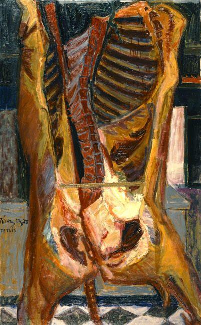 'Slaughtered Animal', 1955 by Panayiotis Tetsis