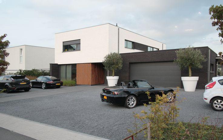moderne woning, duidelijke heldere vormen #modern #architecture #dutchdesign