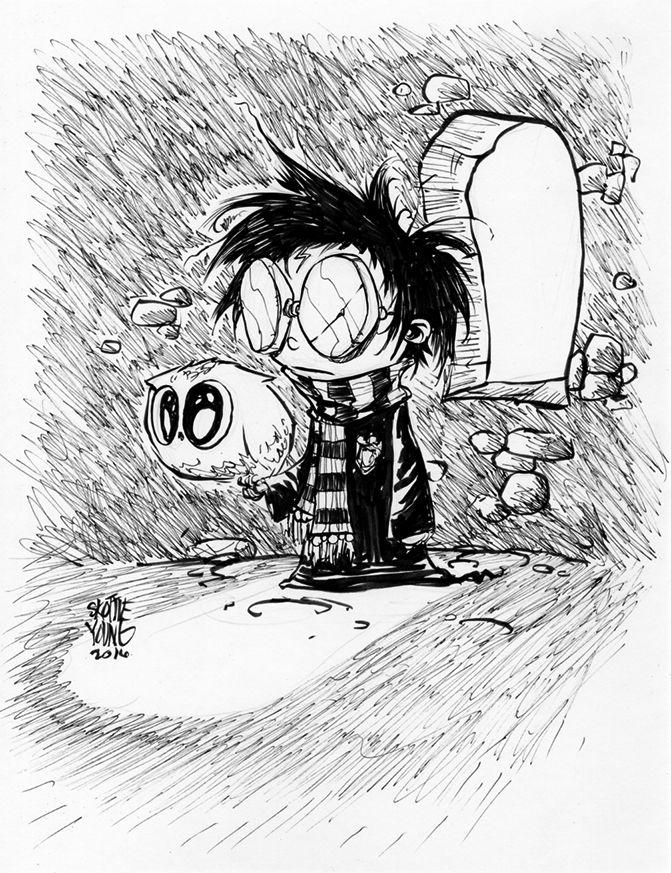 #DailySketch Harry Potter Original available in my shop http://skottieyoungstore.bigcartel.com