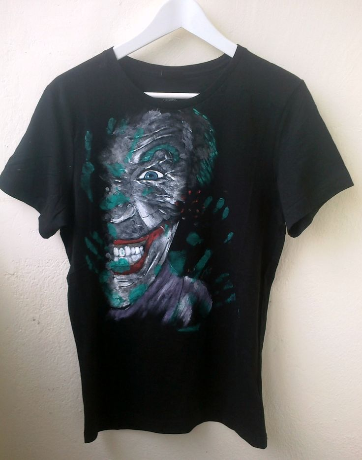 Joker  painted on t-shirt