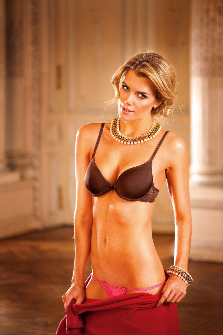 Brown Maximum Cleavage Underwire Lace Bra