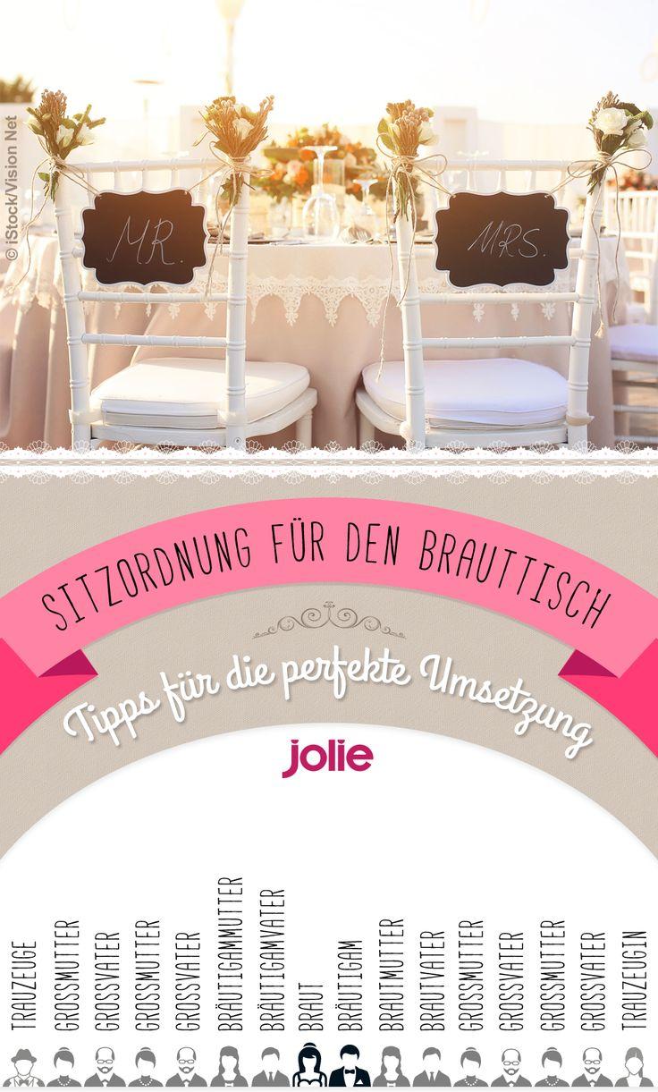 Die Sitzordnung für den Brauttisch an eurer Hochzeit - so wird's traditionell gemacht!
