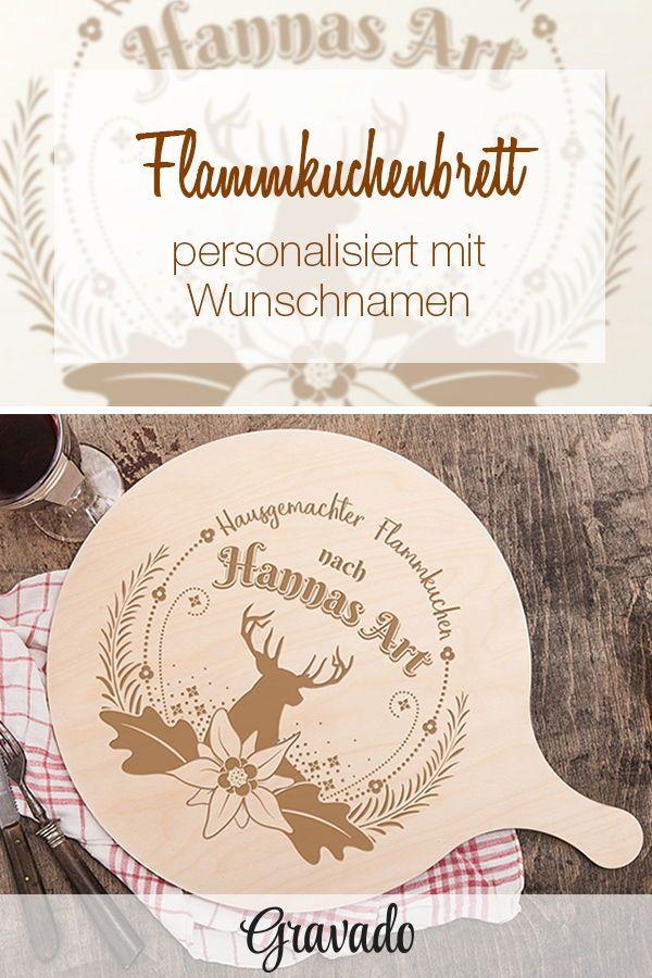 Flammkuchenbrett mit Gravur - Personalisiert - Waldmotiv | HERBST ...