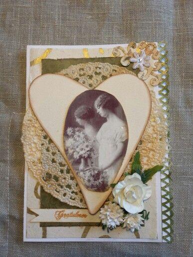 Shabby vintage, handmade card