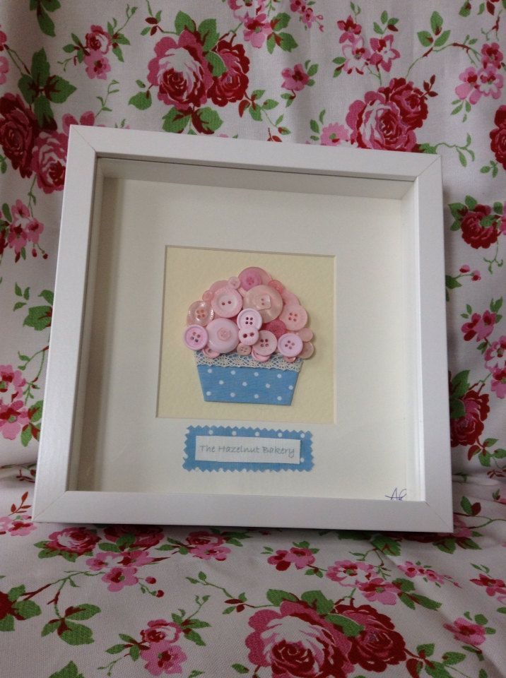 Button Art Box Frame Cupcake Heaven Love In By