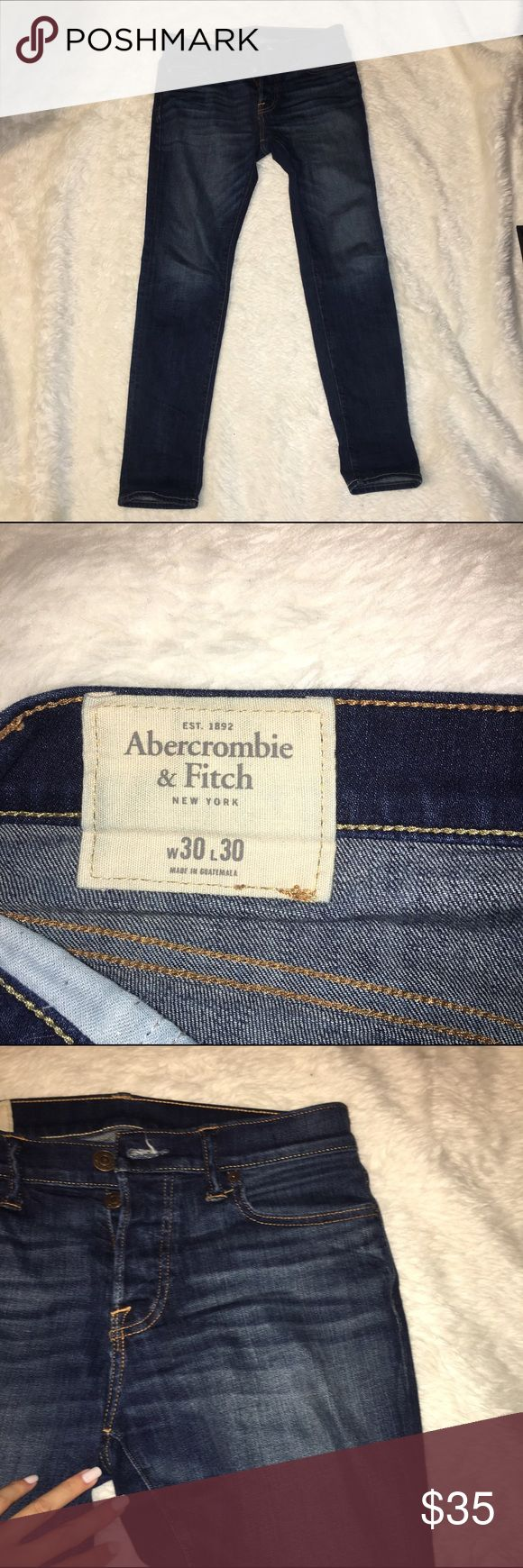 Abercrombie Men's jeans dark wash skinny Men's jeans from Abercrombie and Fitch . Terrific condition no flaws dark wash skinnys Abercrombie & Fitch Jeans Skinny