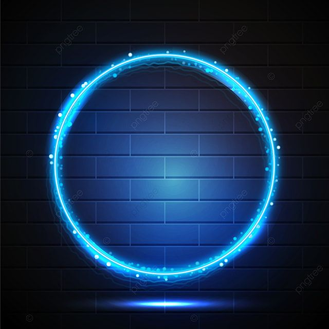 Abstract Blue Neon Frame On Brick Wall Frame Neon Light Png And Vector With Transparent Background For Free Download Neon Brick Wall Graphic Design Background Templates