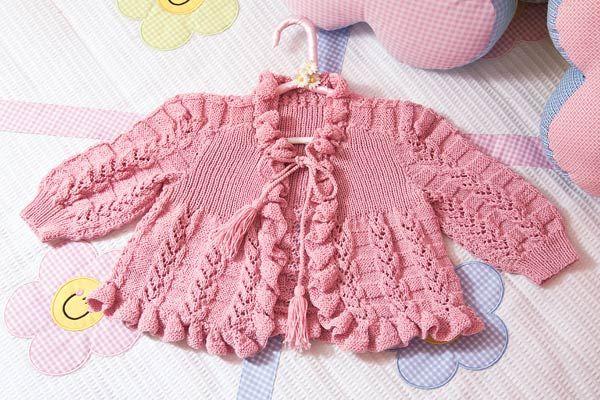 Suéter tejido para niña   Tejidos -Crochet y dos agujas-   Pinterest
