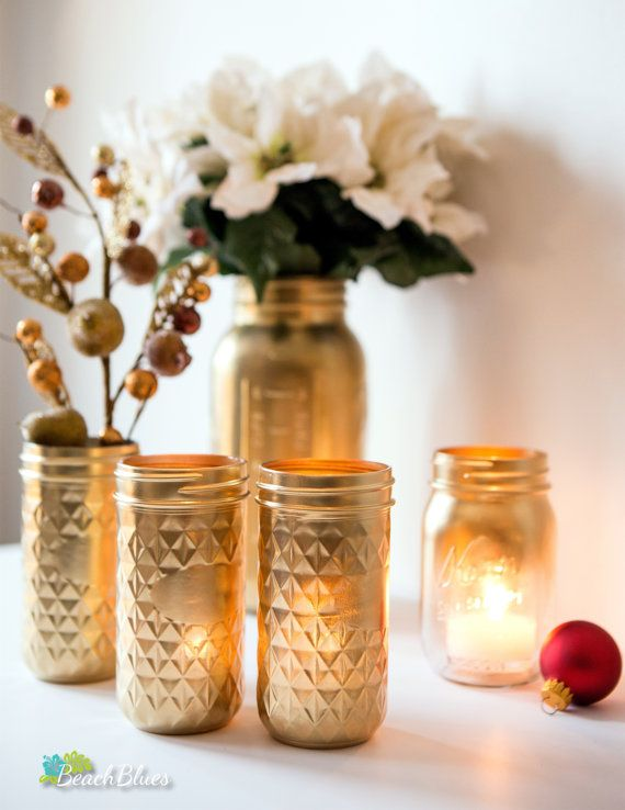 19 best images about mason jar christmas on pinterest for Christmas glass jar decorations