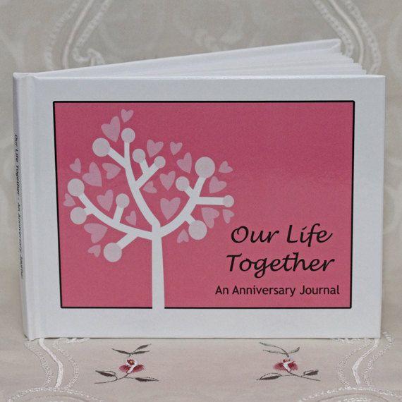 Wedding Anniversary Journal, Bridal Shower Gift via Etsy