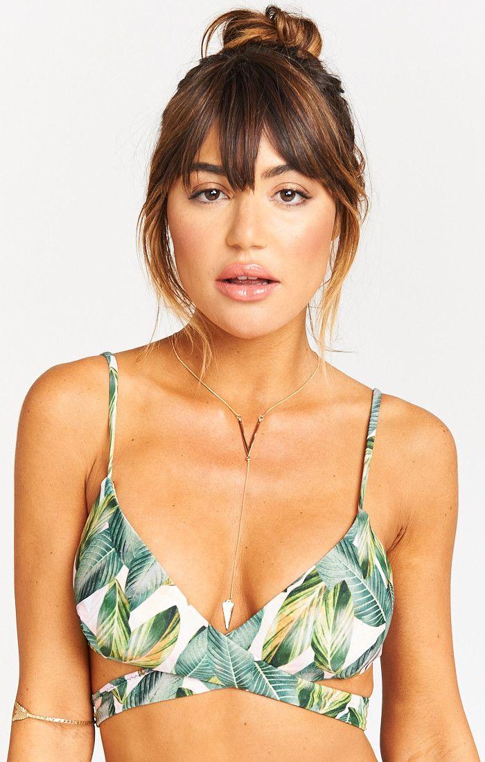 Ryder Wrap Bra Bikini Top ~ Peachy Palm | Show Me Your Mumu