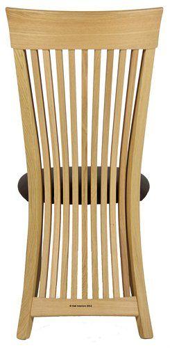 'Jimmy' Slatback Solid Oak Dining Chair