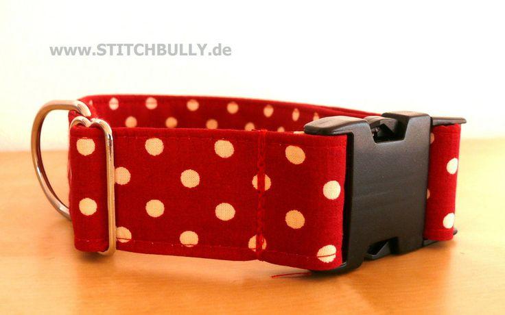 Halsband Gassi Hund Punkte XL  von stitchbully.de auf DaWanda.com