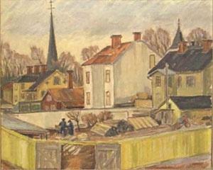 Oskar Person or Persson (1912-1980): Karlskoga kyrkby
