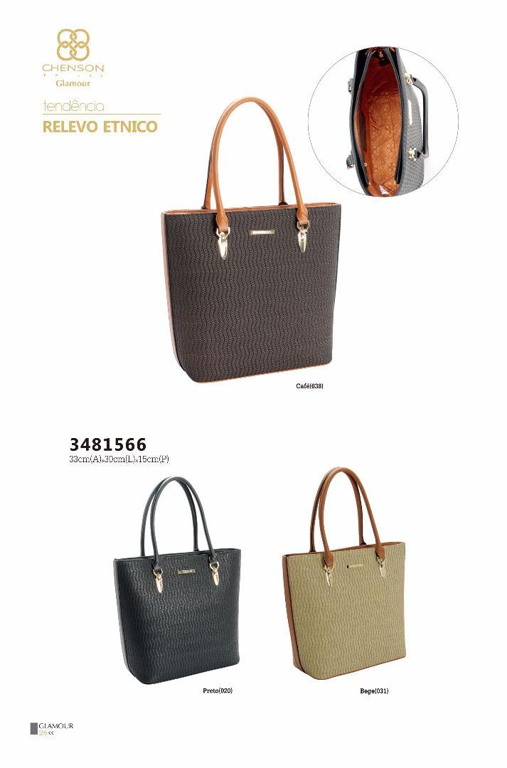 f45633b9d Bolsa feminina chenson relevo étnico 3481566 - Bergamoda Bolsas e Acessórios