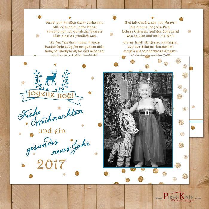 Weihnachtskarten mit eigenen Fotos einfach gestalten und drucken lassen  #weihnachten #christmas #weihnachtskarten #fotokarten