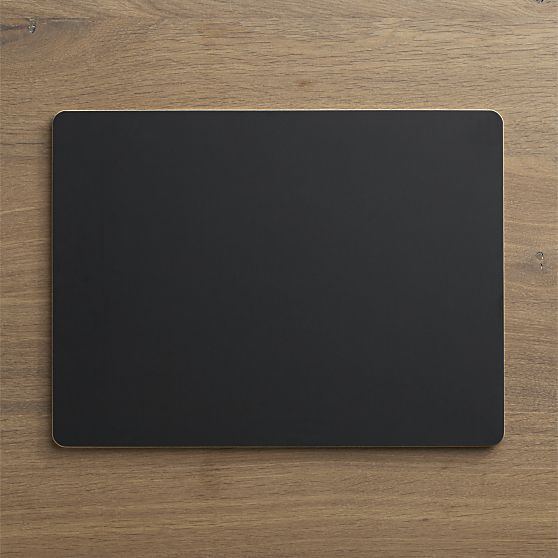 Chalkboard Placemat in Placemats | Crate and Barrel