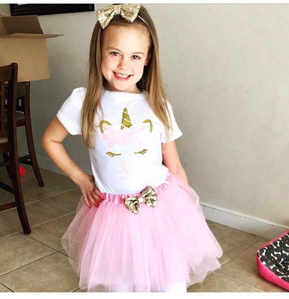 Unicorn Baby Girl/'s Violet Anniversaire Tenue de fête robe 2 ans