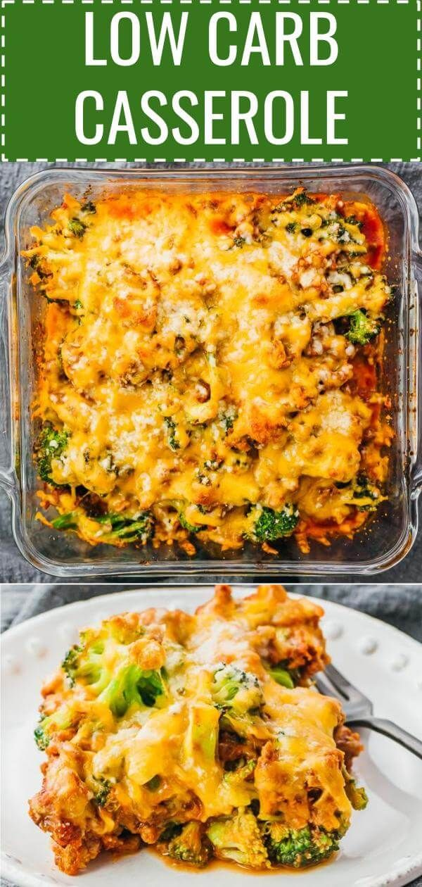 Low Carb Casserole Dinner With Ground Beef Ground Beef Recipes Healthy Dinner Casseroles