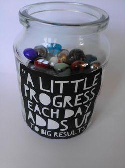 Goals jar - 3 fitness diys