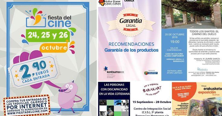 Agenda | Fiesta del Cine y charlas sobre garantía de compras y sobre el duelo por Todos los Santos