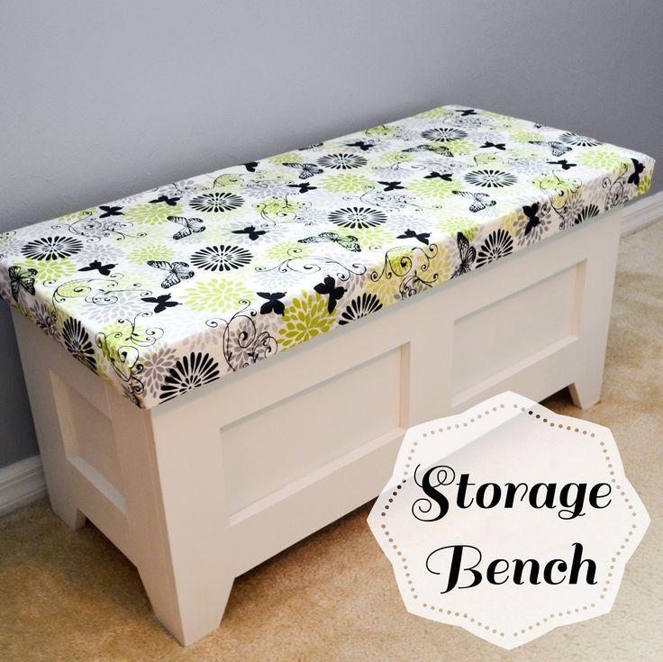 Free plans for a DIY storage bench. I would remove the little removable shelf because I need maximum storage space. If I needed a removable shelf, maybe make the shelf half the height and put it on top of the hanging file racks.