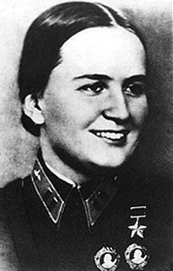 Marina Raskova, the commander who formed the all-women bomber regiment known as The Night Witches or Die Nacht Hexen.