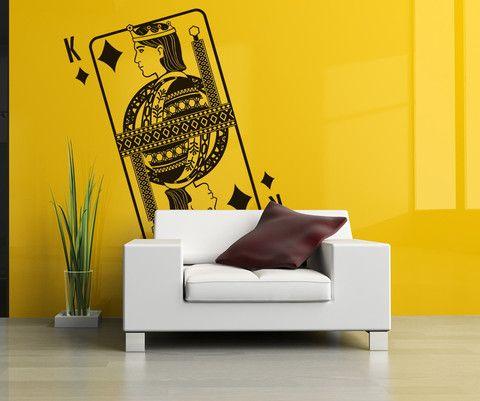 Vinyl Wall Decal Sticker King of Diamonds #OS_DC370