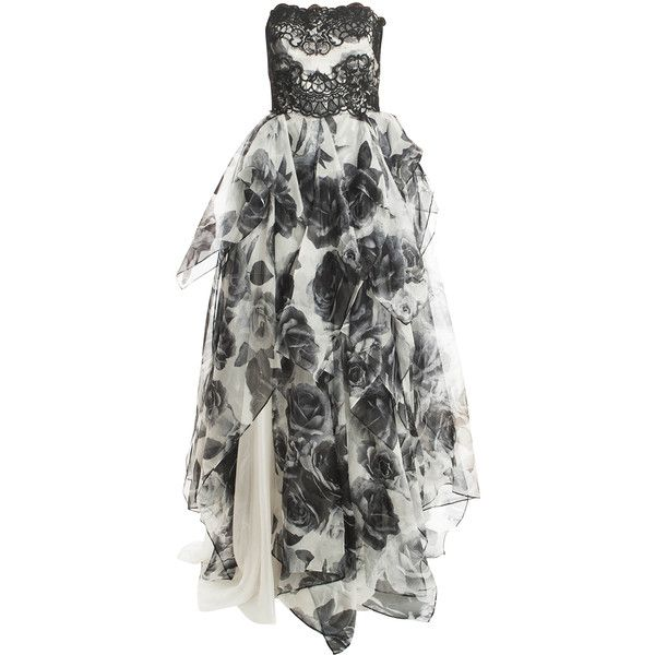 NOTTE BY MARCHESA Organza Gown found on Polyvore