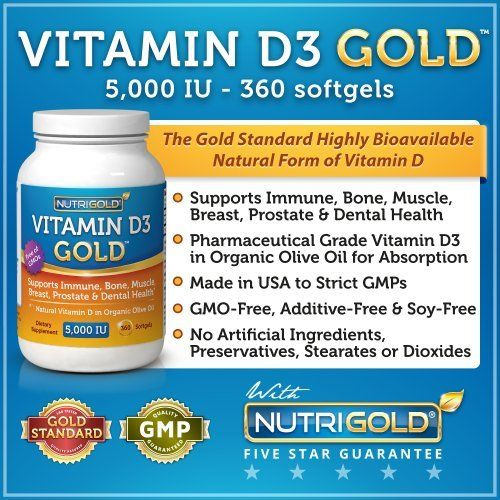 Vitamin D3 5000 IU, 360 Mini Softgels (GMO-free, Preservative-free, Soy-free, USP Grade Natural Vitamin D in Organic Olive Oil) by Nutrigold, http://www.amazon.com/dp/B004N8TTBQ/ref=cm_sw_r_pi_dp_rdeYqb0J76M4P