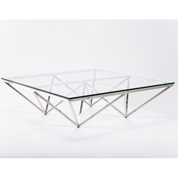 Kare Design Couchtisch Network 105x105cm Mit Glasplatte