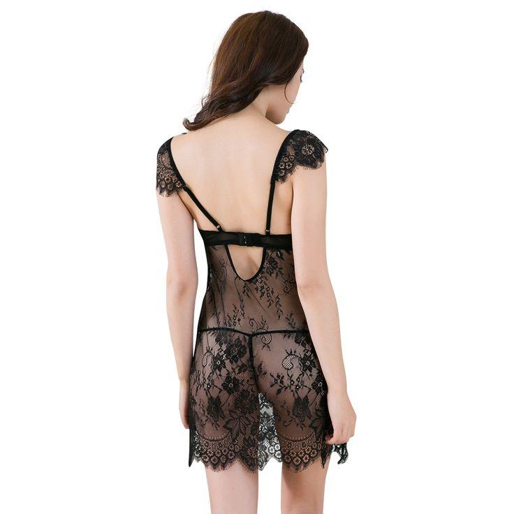 2017 Knee-length Gecelik Sleepwear Sexy Lingerie Nighties Para As Mulheres Nightgowns Pijamas Roupa Vestido De Renda Noite Das