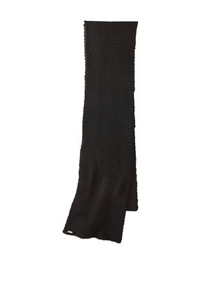 adidas SLVR Women's Heavy Knit Scarf, Black/Silver