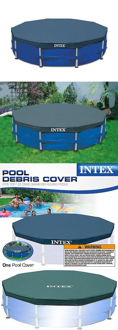 Pool Covers and Rollers 181068: Intex 10-Foot Round Above Ground Pool Vinyl Debris Cover, Blue | 28030E -> BUY IT NOW ONLY: $46.99 on eBay!