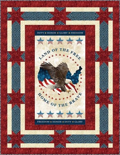 Land of the Free Patriotic Quilt Kit